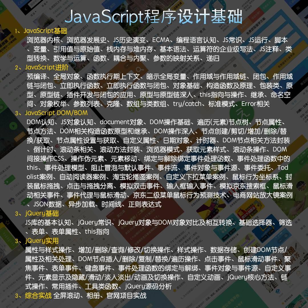 JS程序设计基础